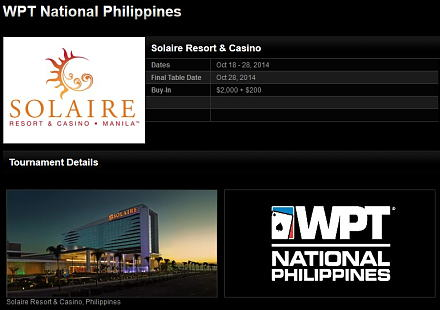 WPT Solaire Resort & Casino, Philippines